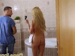 Dane Jones Bathroom quickie with big tits blonde Marilyn Crystal