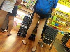 Singapore Ass Cheeks 4 - Teen girl FBT white panties EXPOSED