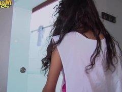 MamacitaZ - Hot Teen Latina Maid Juanita Gomez Loves MMF Sex