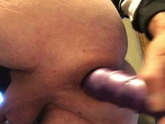 Anal Gaping Fisting large dildo ass insertion butt plug