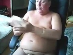 fat daddy with nice fat cock cum