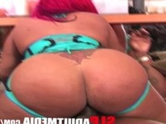 BIG ASS BOOTY LETHAL LIPPS WITH RED HAIR FUCKS SUCKS A SLOPPY HEADED BBC