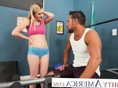 Naughty America - Abby Adams fucks her friend's dad in an empty gym