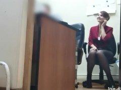 I've got a job. Jeny Smith gets naked at her new job