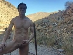 solo guy Bicycle Ride naked