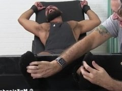 Tied jock dominated and tickled cause of foot fetish