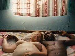 White Granny and black boy shower