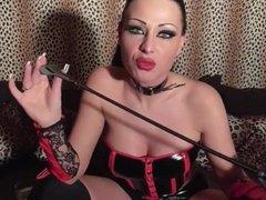 Oh so sexy smoking hot brunette milf Jacky Lawless smoking & teasing!